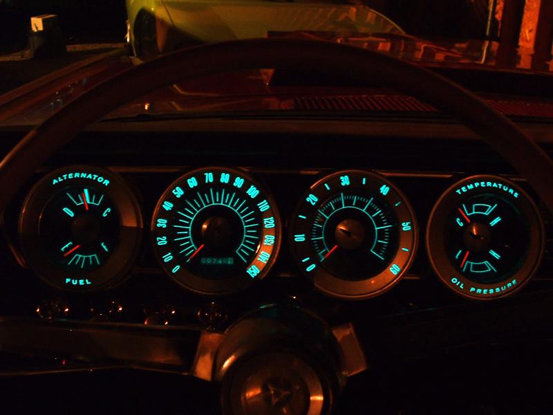 EL in a Car Dashboard
