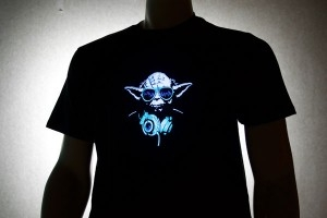 Yoda DJ LED Shirt