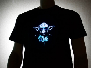Yoda DJ LED Shirt
