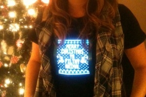 Christmas light up shirt photo