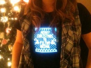 Christmas light up shirt photo