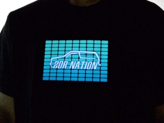 Car Racing Light Up Shirt Pic
