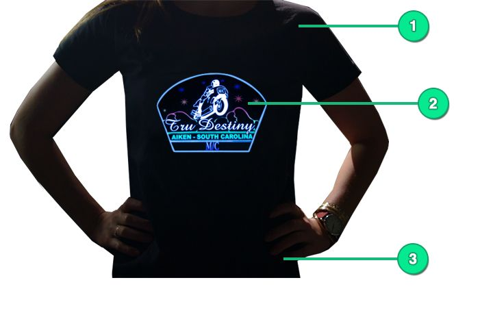 Light Up T-shirt Diagram