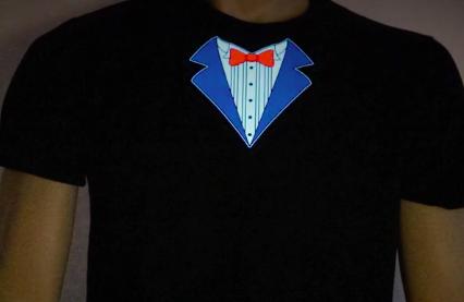 Tuxedo LED Shirt Turned On