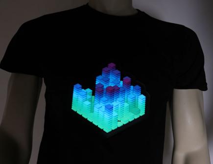 3D Cube LED Shirt