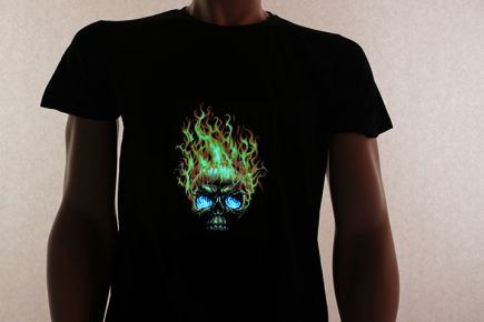 Flaming Skull on
