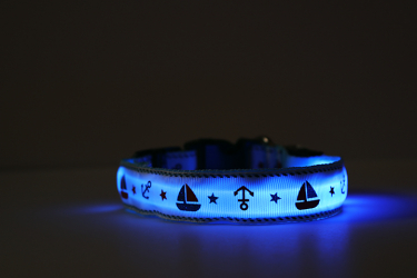 Cute sailboat dog collar