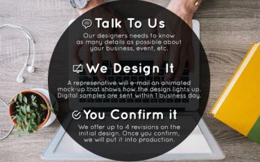 Custom Light Up T-shirt Design Service Image