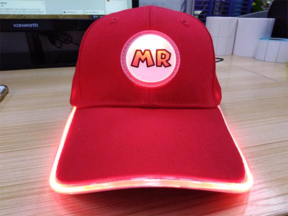 Custom Red LED Hat