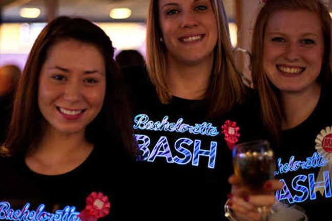 Bachelorette Party Light Up Shirts