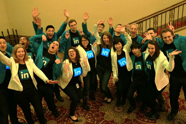 LinkedIn Custom LED Shirts
