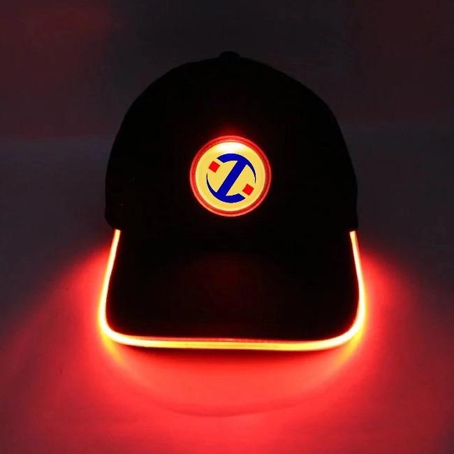 LED Hat Front On