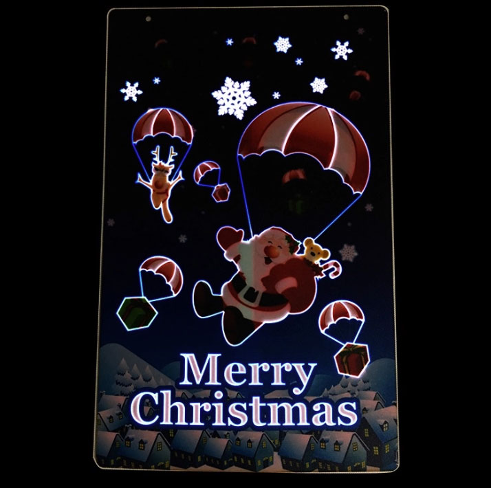 Merry Christmas Light Up EL Poster