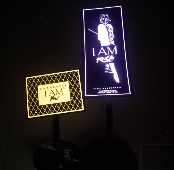 Custom Light Up Wine Labels