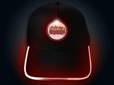 Red LED Baseball Hat Lighting Up with Flashion Statement custom logo