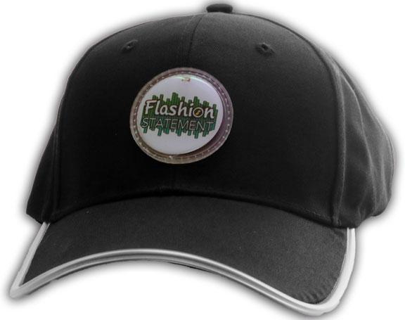 Black Baseball Hat with Curved Brim