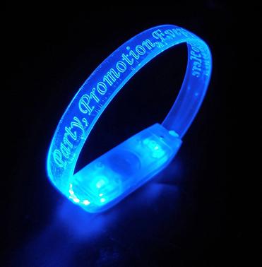 Blue Light Up Wristband