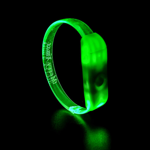 Green LED Button Wristband