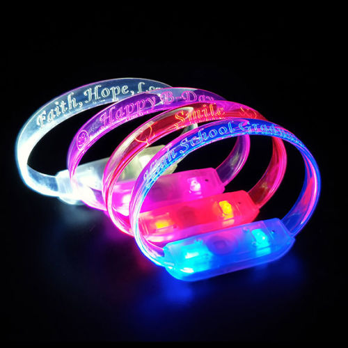 Laser Engraved LED Bracelets