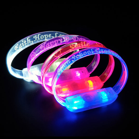 Laser Engraved LED Bracelets