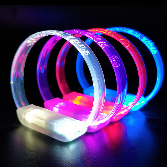 Multicolor Engraved LED Wristbands