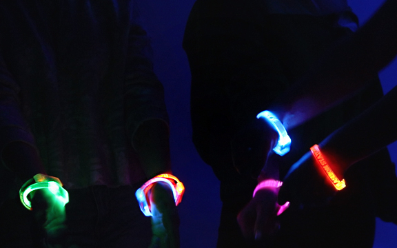 Custom light up LED Bracelets