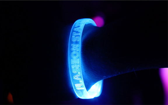 Blue custom LED Bracelets