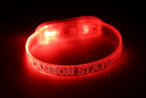 Engraved Red LED Bracelet
