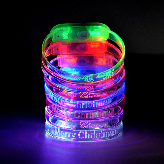 Merry Christmas Engraved LED Bracelets