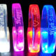 Many Different Engraved Logos Lighting Up On LED Bracelets