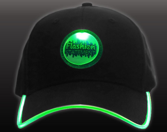 Green LED Hat
