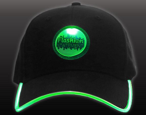 Green LED Hat