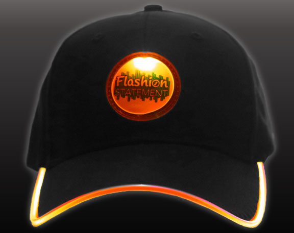 Orange LED Hat