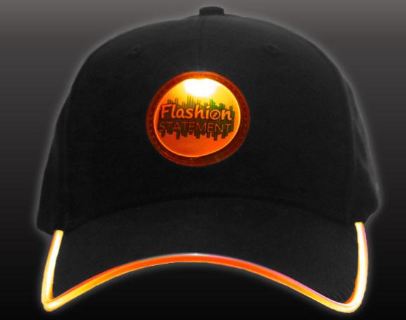 Orange LED Hat