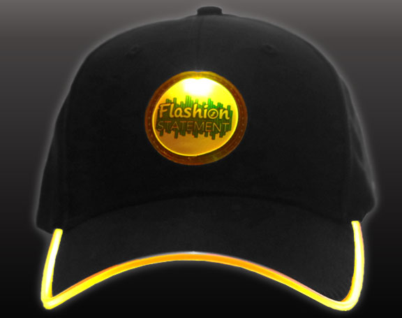 Yellow LED Hat