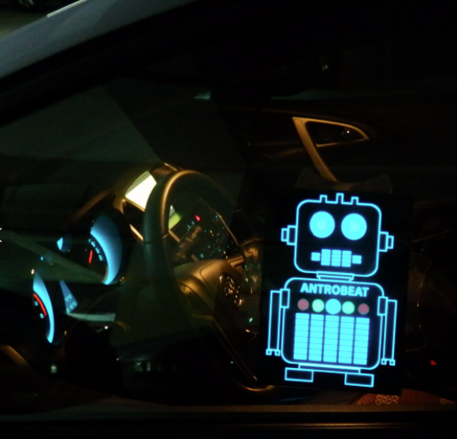 Robot Car EL Poster Example