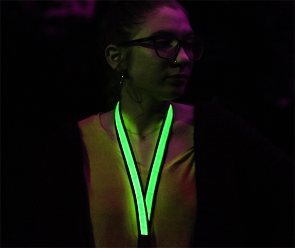 Green LED Lanyard Example