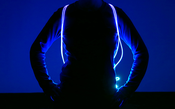 Blue LED Drawstrings