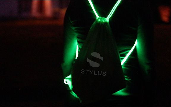 Stylus Custom Green LED Backpacks