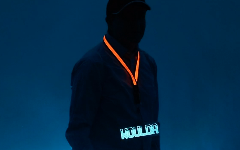 Woulda Custom EL Badge with LED Lanyard