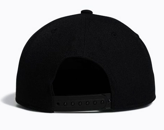 Snapback closure on back of LED hat