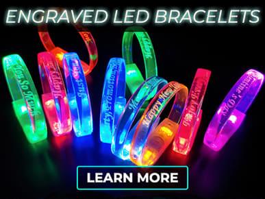 Customize Engraved LED Bracelets