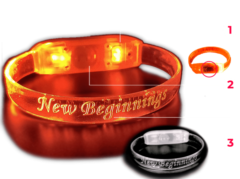 Diagram of an LED light up Bracelet
