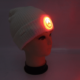 Sideways view of an LED beanie Hat