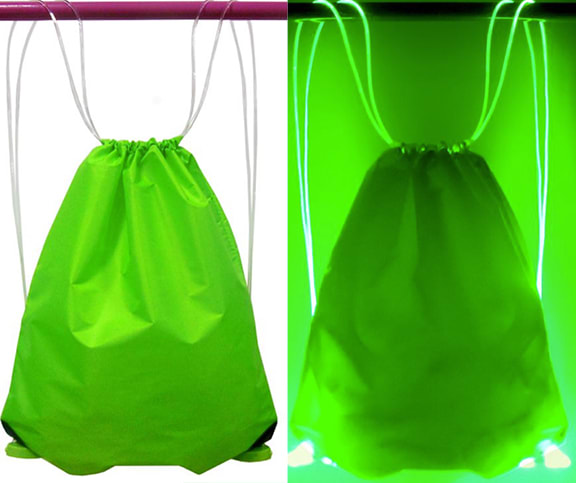 Green Color Light Up Drawstring Bag