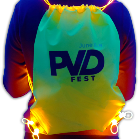 Unique Promo Item: Custom LED Drawstring Bags
