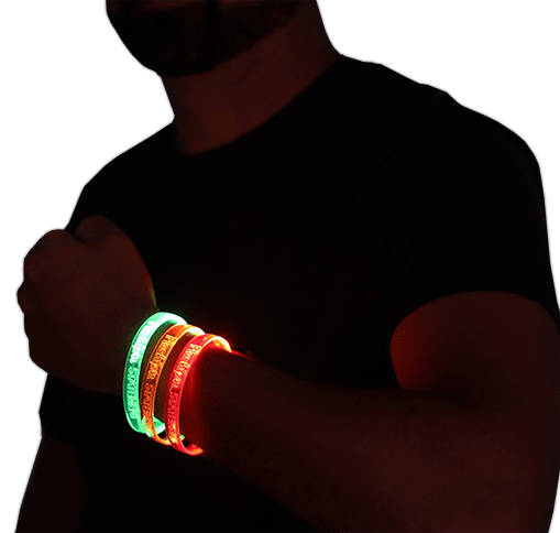 LED sound activated bracelets