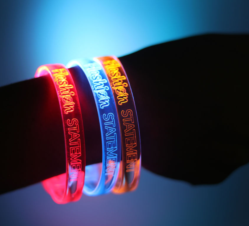 Custom engraved LED Bracelets
