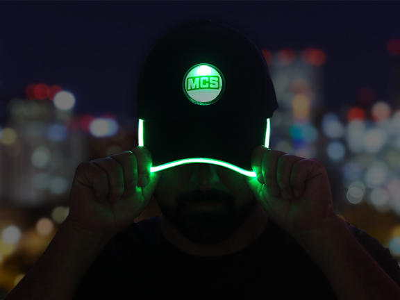 MCS Green LED Baseball Hat
