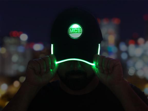 MCS Green LED Baseball Hat